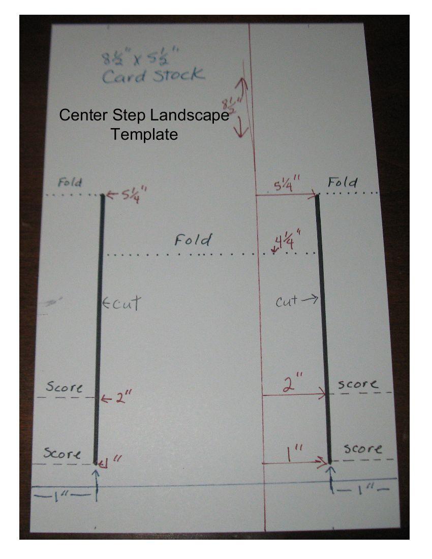 Center step card tutorial splitcoaststampers.