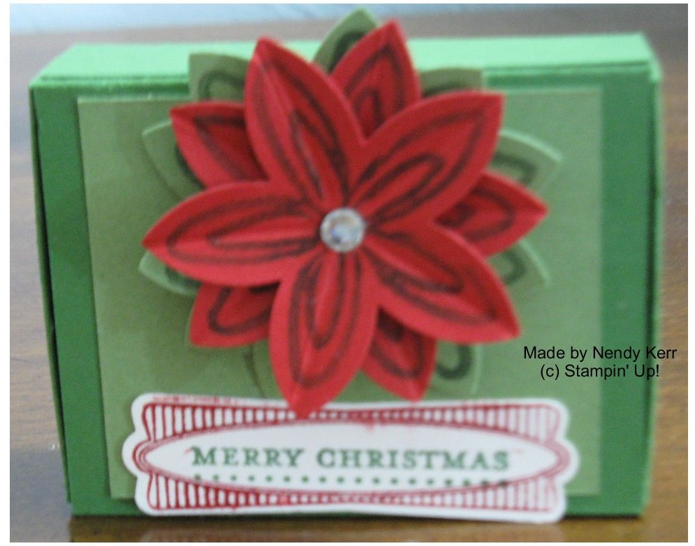 Poinsettia Matchbox