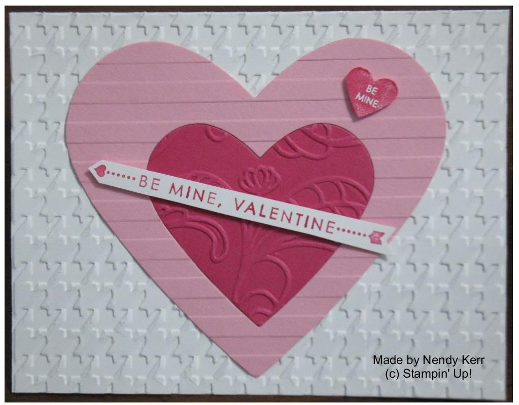 Textured Heart Framelit Valentine