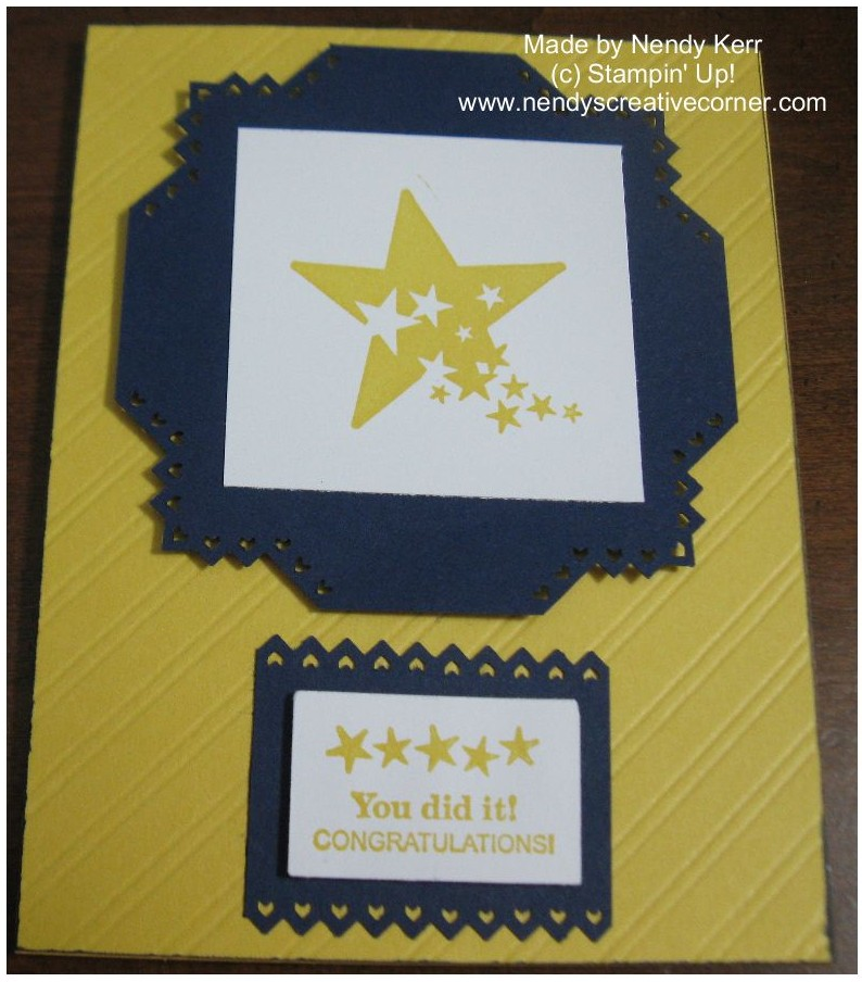 Sprinkled Star Congratulations!