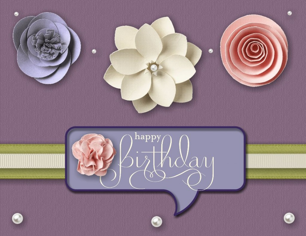 Paper Flowers Birthday Cards Flowers Healthy