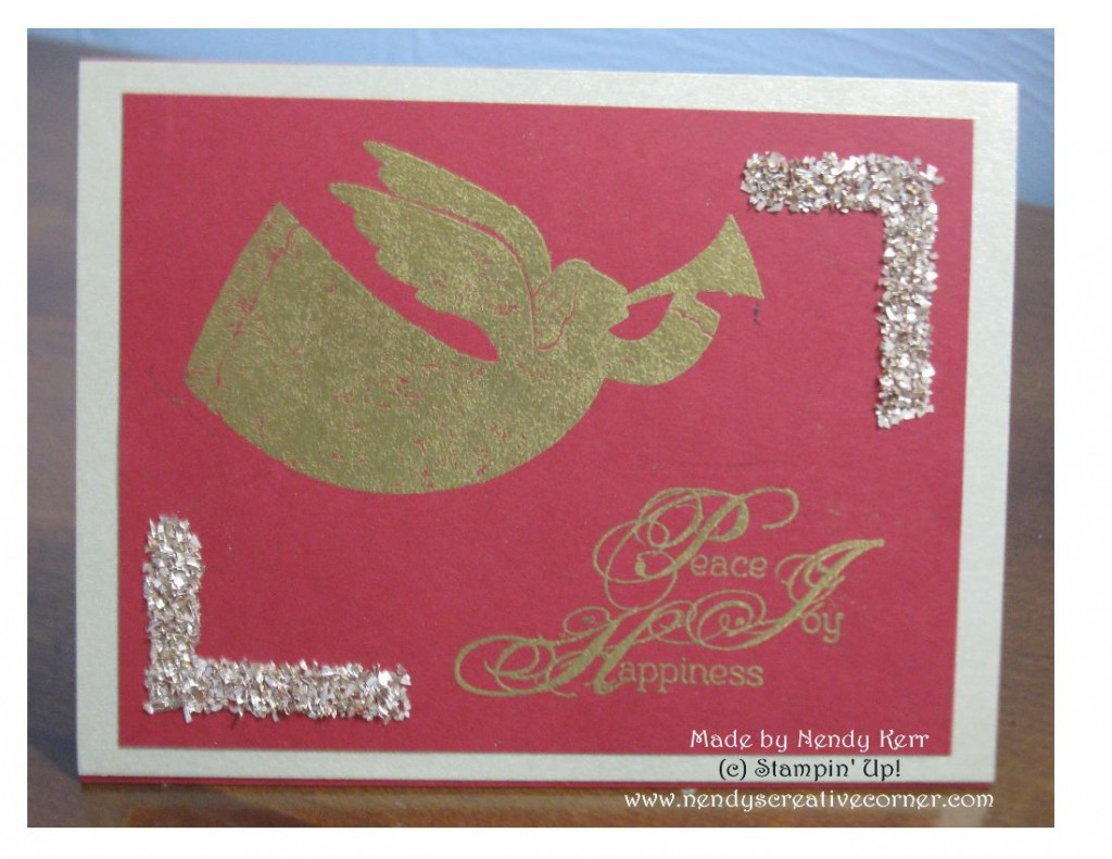 Sparkly Rejoicing With You Christmas Card
