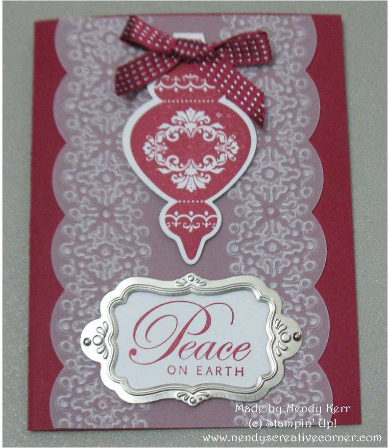 Delicate Keepsake Ornament Christmas Card