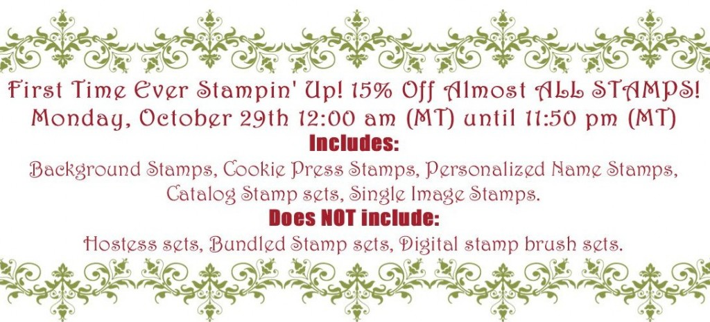 Stamp Sale Oct 2012