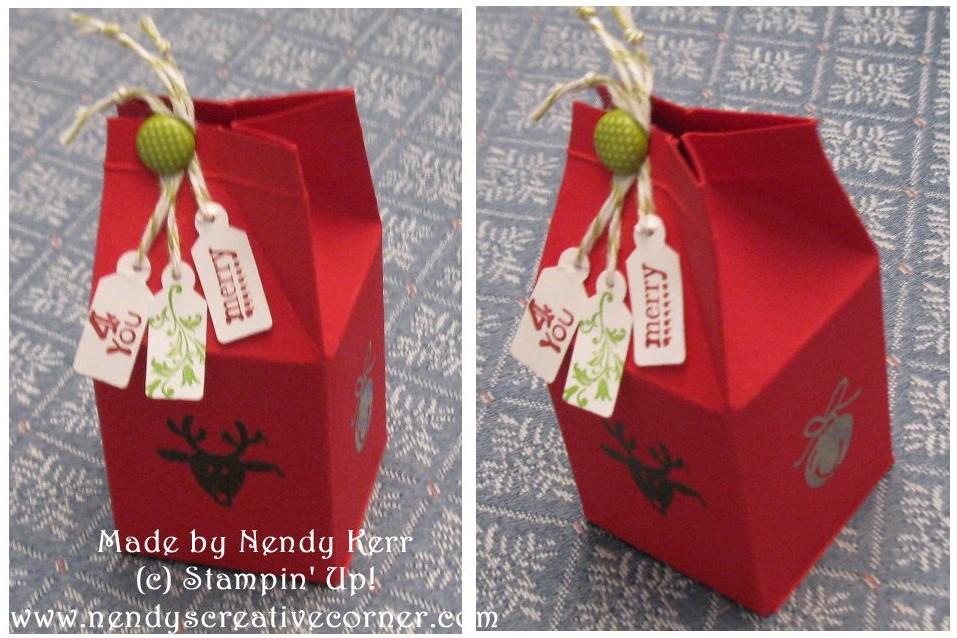 Christmas Mini Milk Carton