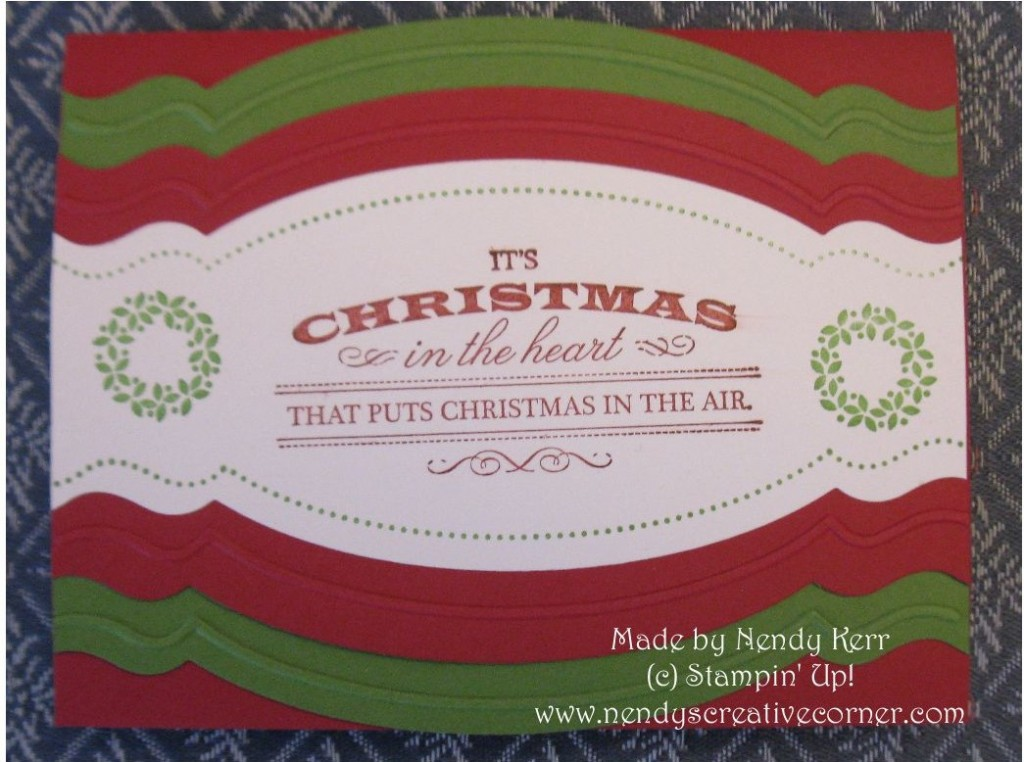 Heart of Christmas & Adorning Accents Christmas Card