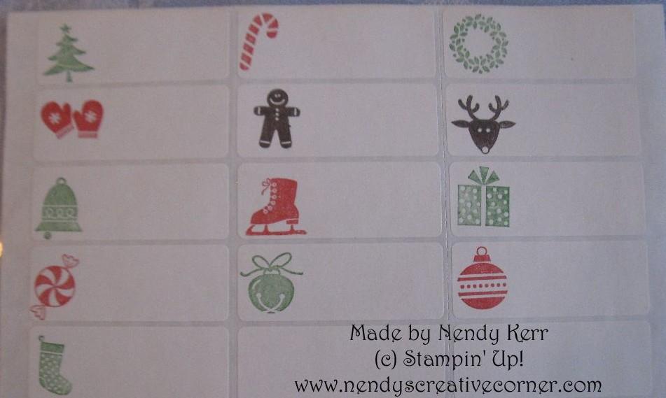 Christmas Address Label Gift Tags