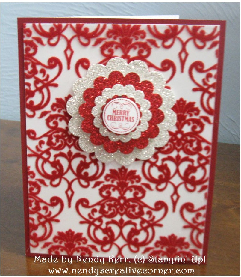 Sparkly Candlelight Christmas Card