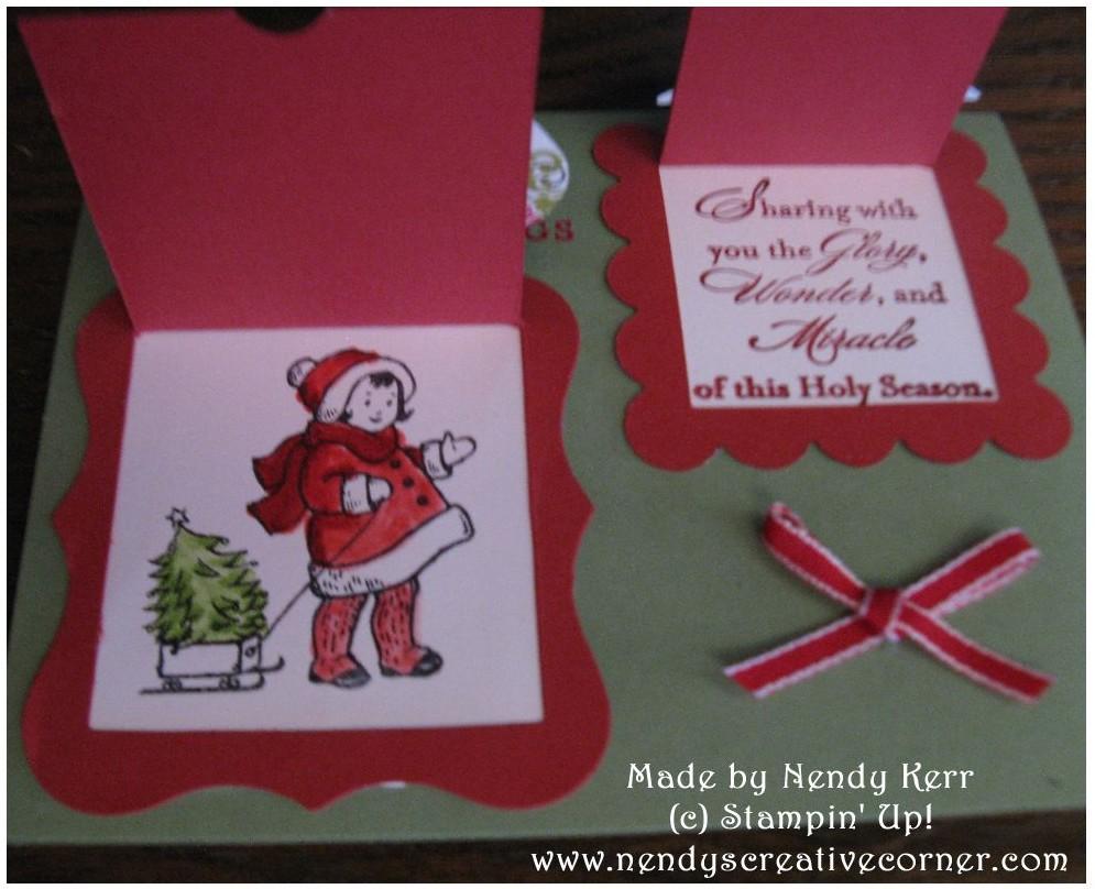 Peekaboo Frames Christmas Card-Open