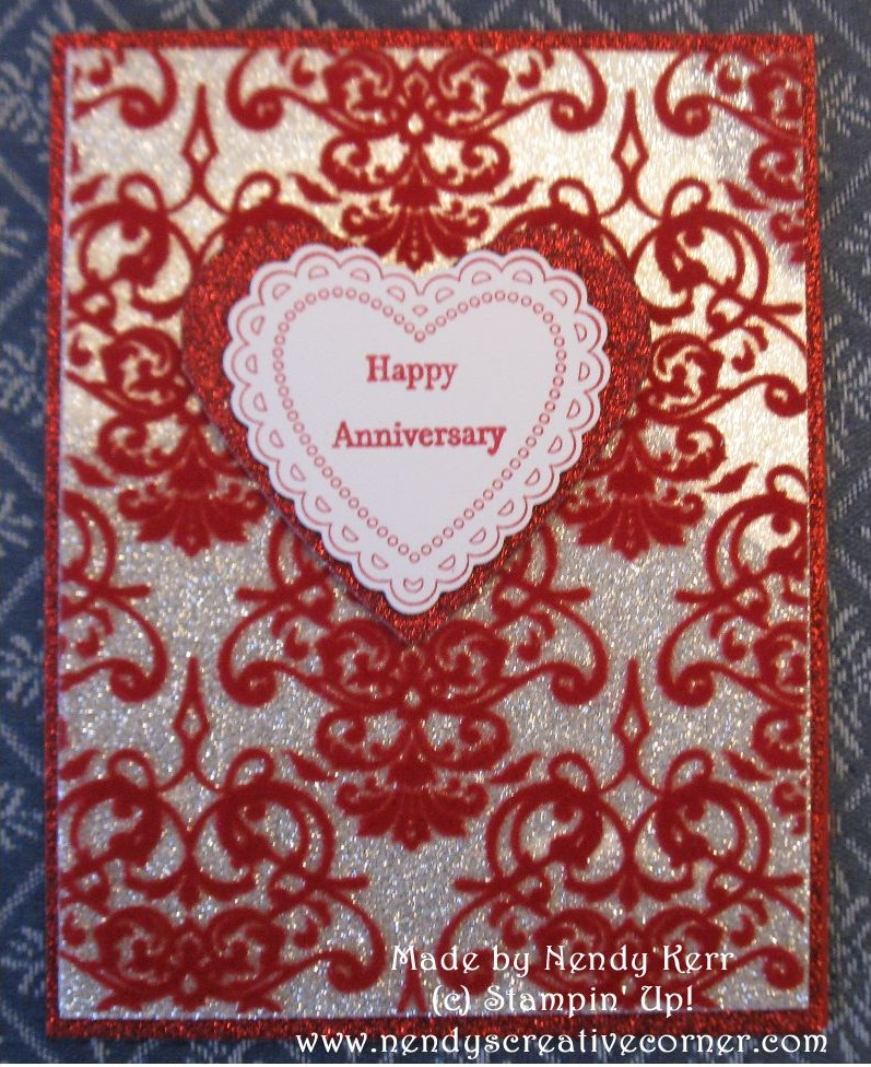 Sparkly anniversary or valentine s day card