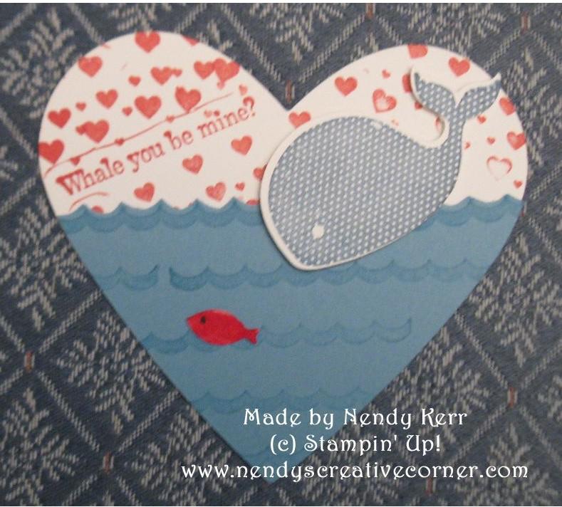 Whale Children's Valentine Card