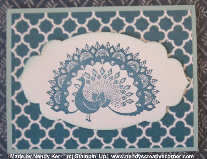 World Treasures Peacock Card