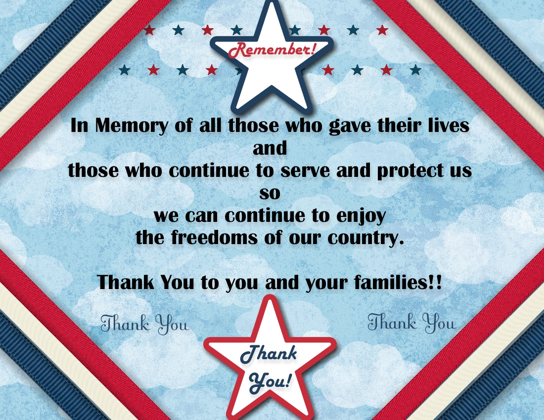 MDS Memorial Day Card
