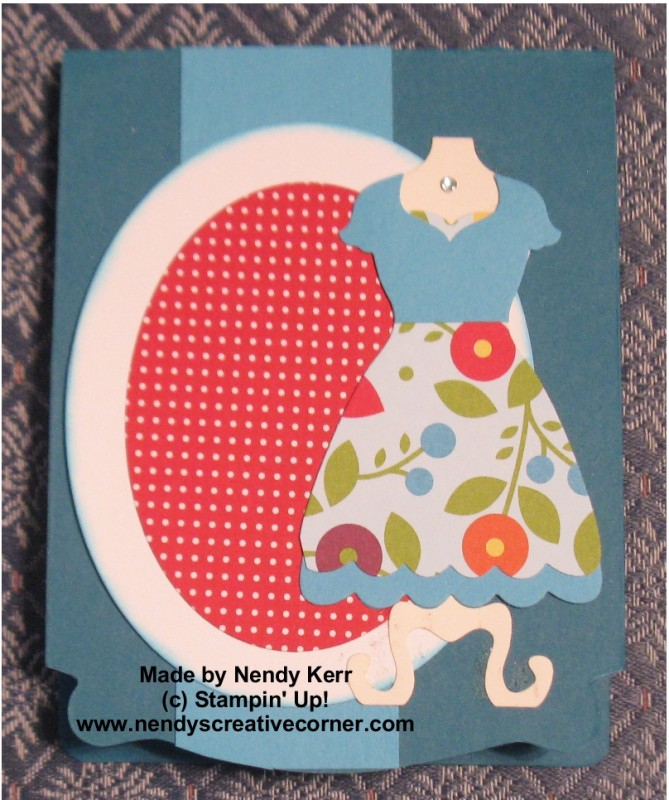 Pop n' Cut Dress Card Front