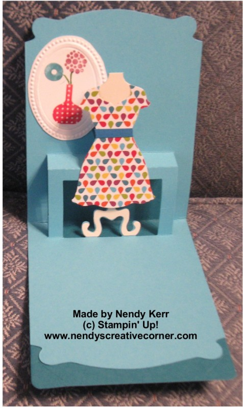 Pop n' Cut Dress Card inside