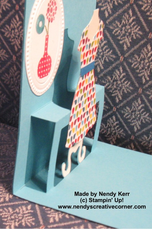 Pop n' Cut Dress Card inside fold lines