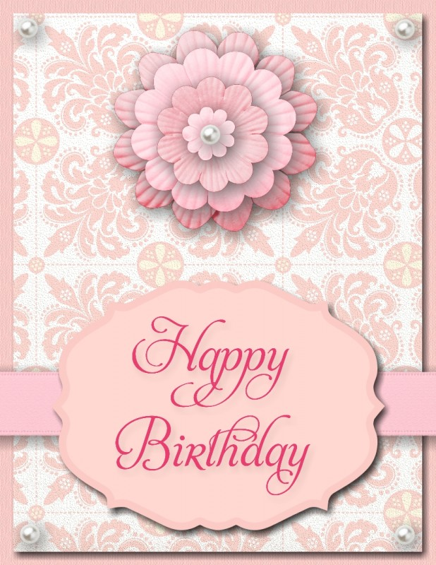 MDS Happy Birthday Card that can be used for Mother's Day