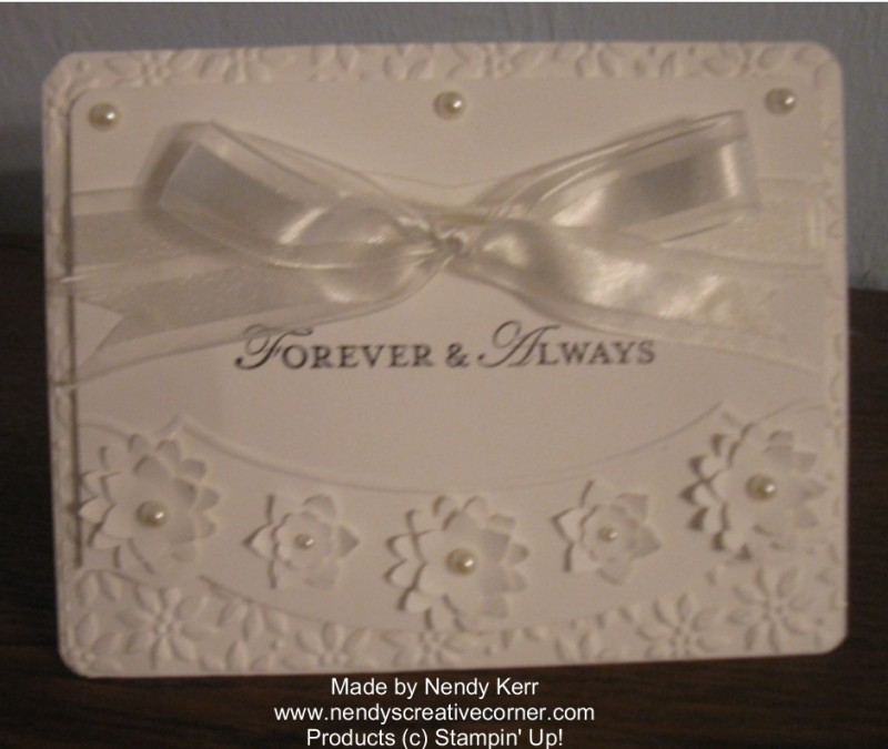 Boho White on White Anniversary or Wedding Card