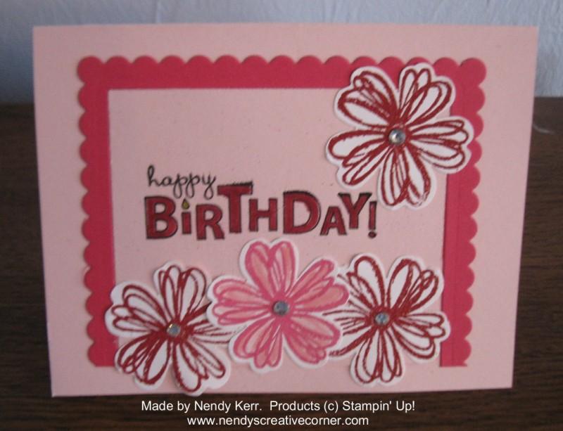Julia's Flower Birthday Card