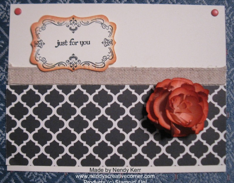 Artisan Label Punch Flower on Card