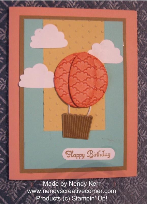 Hot Air Balloon Punch Art Card