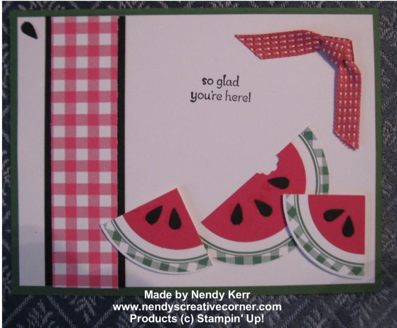 Watermelon Punch Art Card