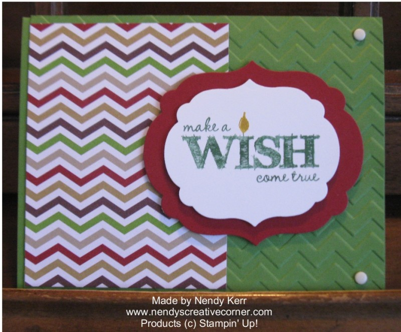 Make a Wish Birthday Card with Chevrons