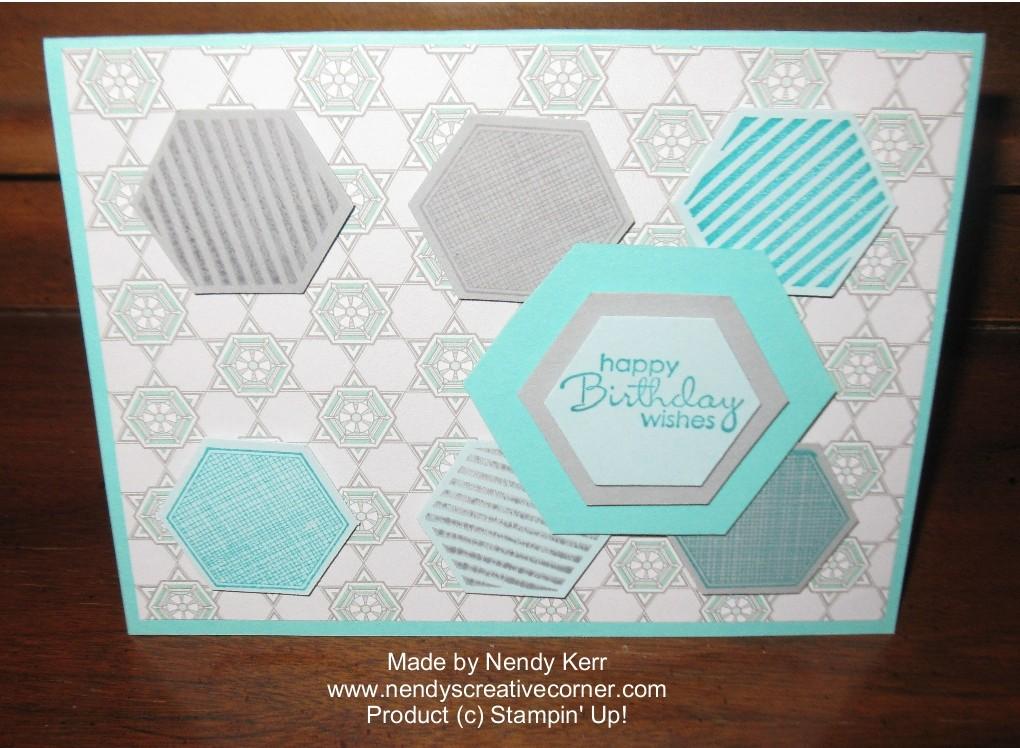 Manly Hexagon Six-Sided Sampler Birthday Card