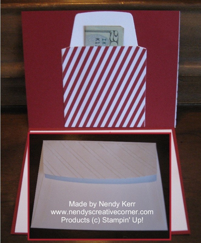 Wedding Card with Money Holder-inside view
