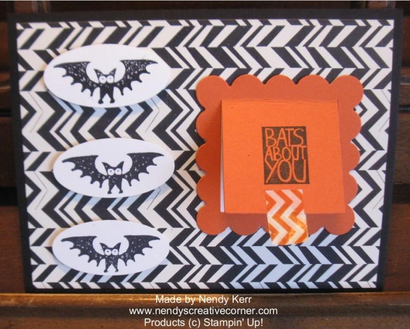 Batty Peekaboo Halloween Card