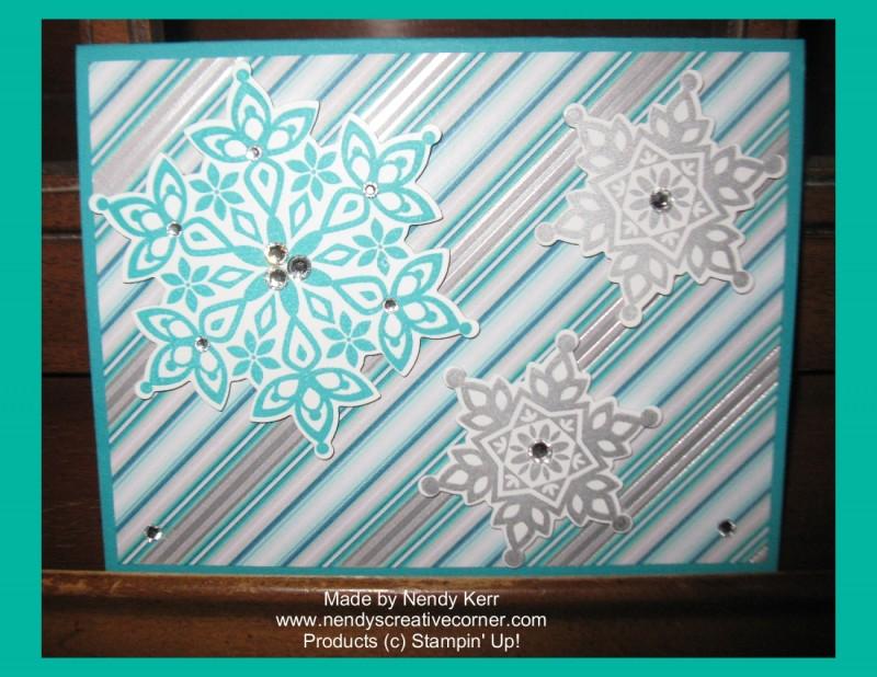 Festive Flurries Snowflake Card