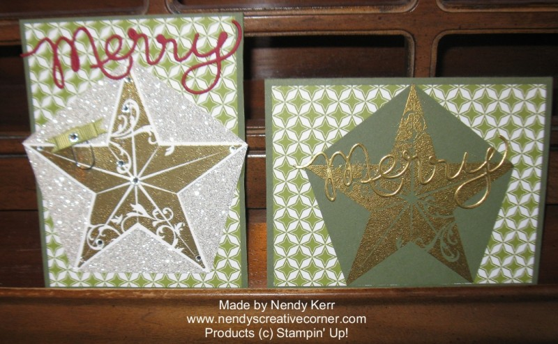 Christmas Star Card-Two versions