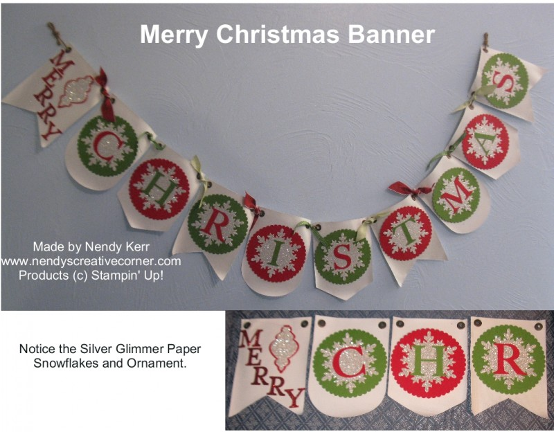 Make this Merry Christmas Banner in less than 2 hours!