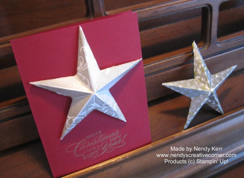 3D Christmas Star Card