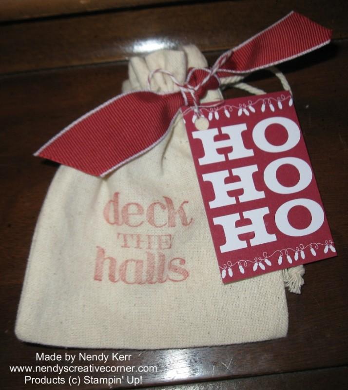 Mini Muslin Christmas Bag