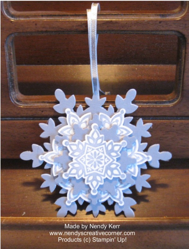 Festive Flurries Snowflake Ornament