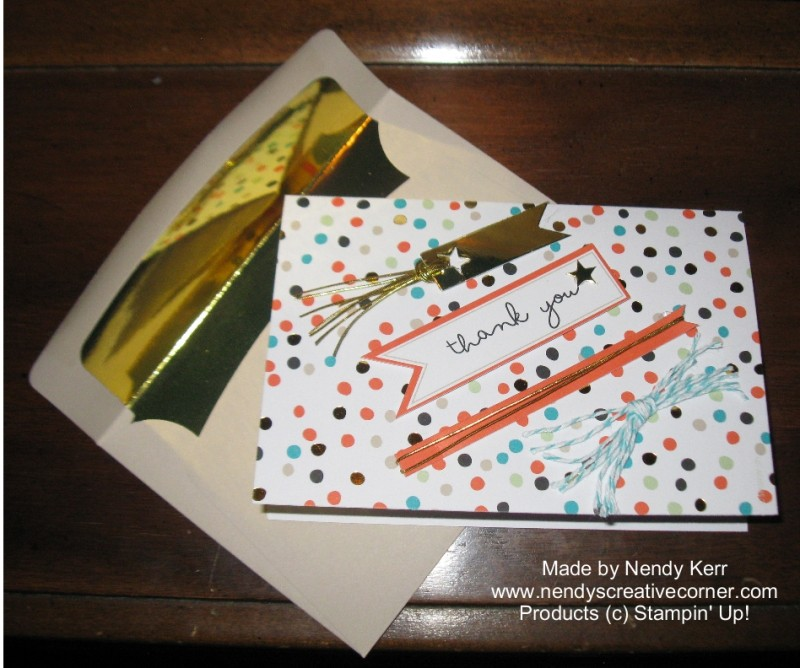 Good As Gold Sale-a-bration 2014 Card Kit