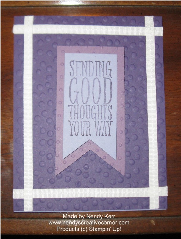 Purple Perfect Pennants Card