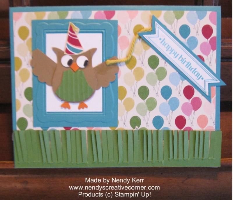 Elijah's Owl Birthday Card 2014