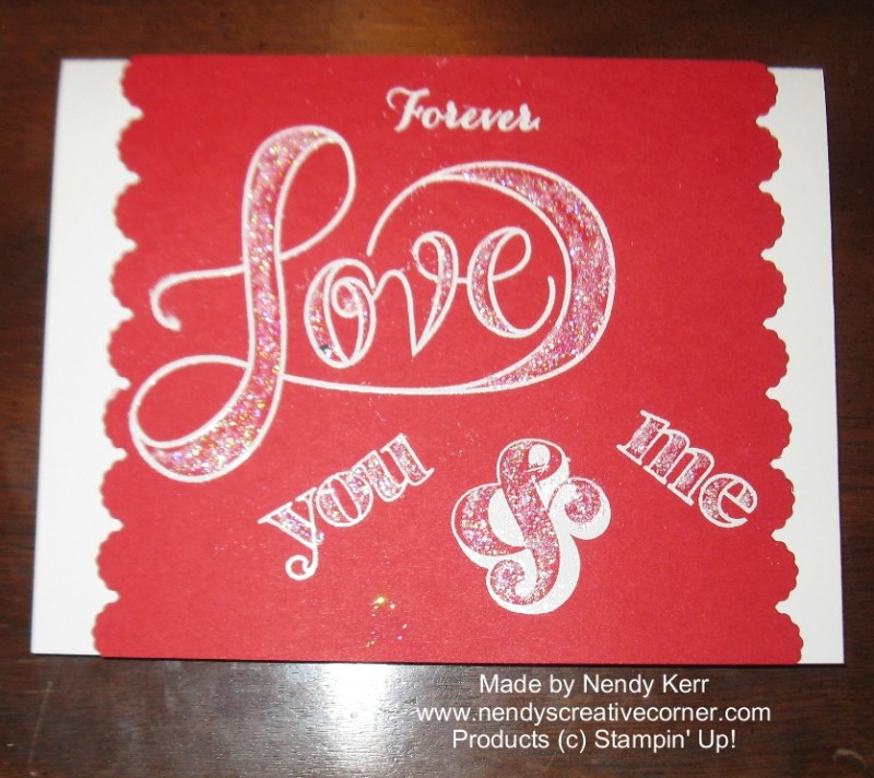 Love You & Me Valentine Card