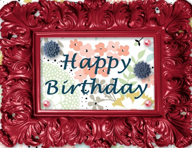 Framed Happy Birthday