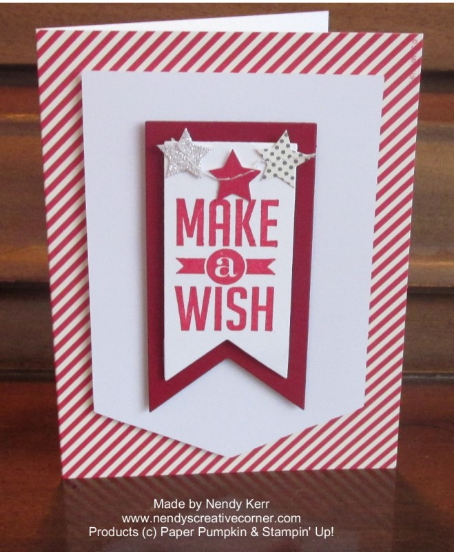 Paper Pumpkin-Make a Wish card
