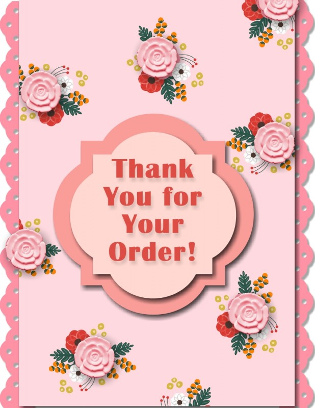 About to Blossom Flower Thank You Card