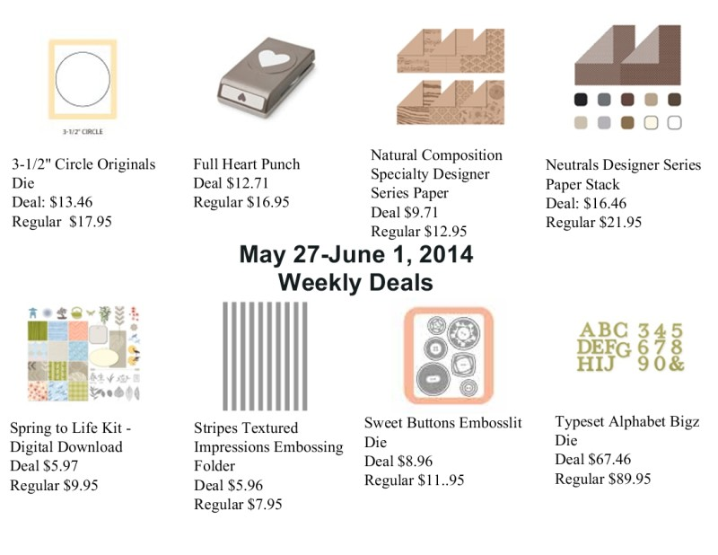 Weekly Deals for May 27, 2014
