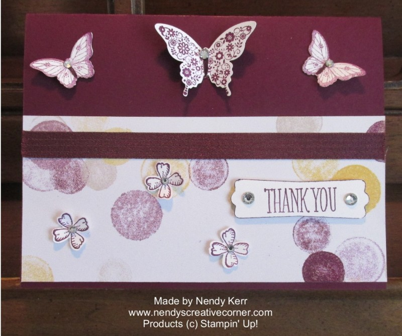 Blackberry Bliss Butterflies & Flowers Card