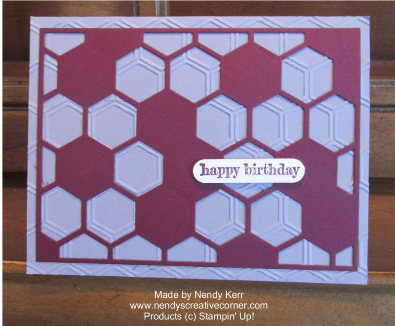 Hexagon Hive and Honeycomb Birthday Card