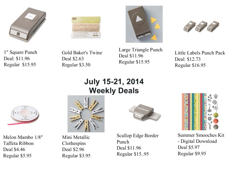 Weekly Deals July 15-21, 2014