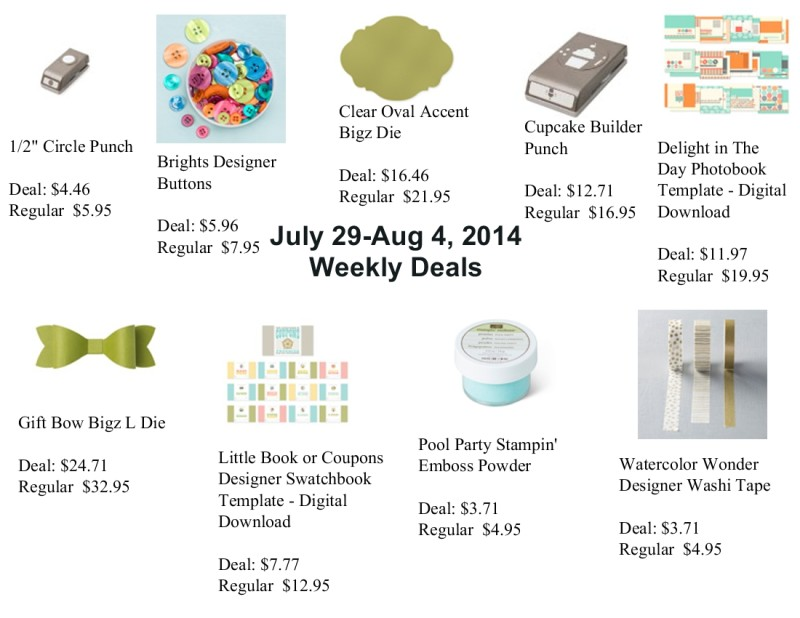 July 29, 2014 Weekly Deals & Promotions