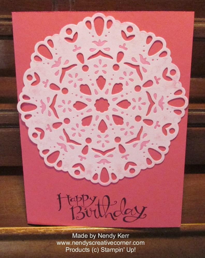 Darling Doily Birthday Card