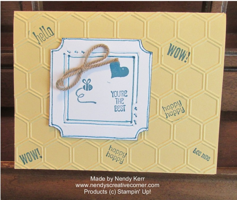 Honeycomb Hello and Fun Frame Card